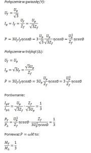 gwiazda-trójkąt równania